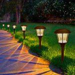 Solar lights garden