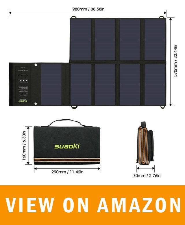 Suaoki 60w Solar Panel 5v Usb And 18v Dc Output Our